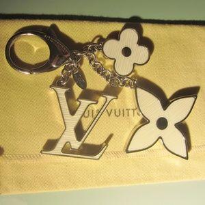 Louis Vuitton Fleur D' Epi Bag Charm Keychain
